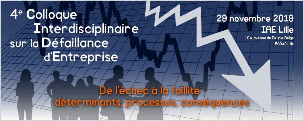 CIDE2019 - 4ème Colloque Interdisciplinaire sur la Défaillance d'Entreprise